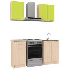Ника кухонный гарнитур зеленый