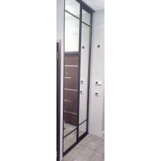 Двери Купе зеркальные в нишу