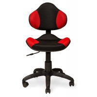 Кресло Логика чёрно-красное