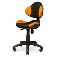 Кресло Логика чёрно-оранжевое