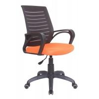 Кресло Сириус чёрно-оранжевое